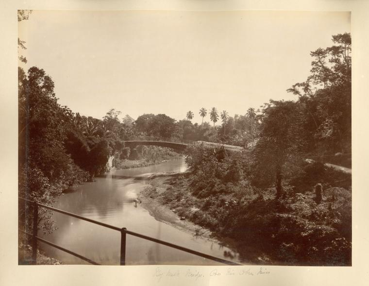 The cast iron bridge over the Rio Cobre in Spanish Town, St Catherine