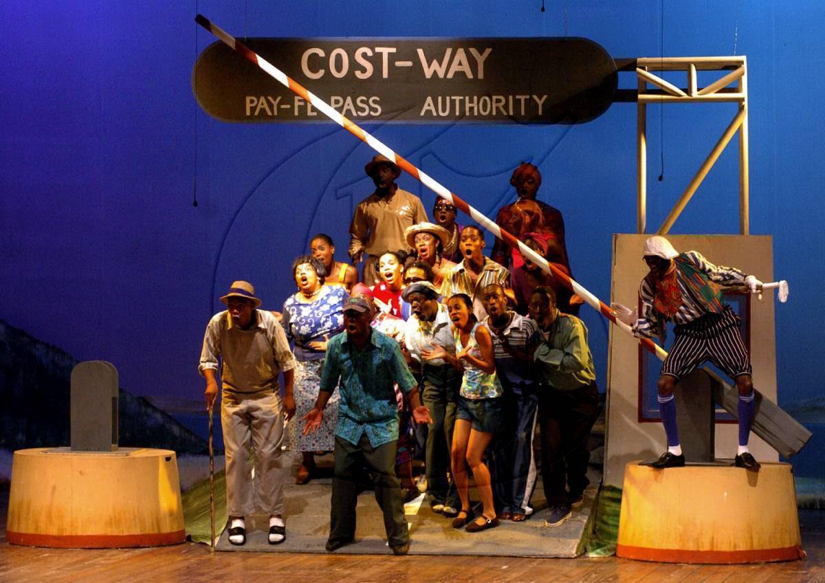 A scene from the pantomime, Zu-Zu Macca in 2005/2006.