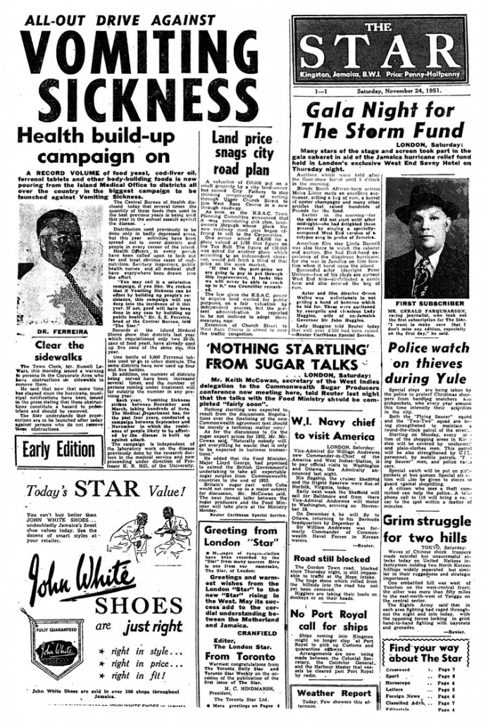 First Star Frontpage  - Nov 24, 1951