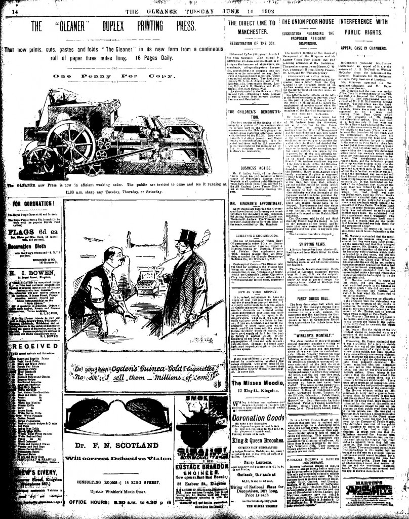 The Gleaner increases to 16 pages (June 10, 1902)-page-001