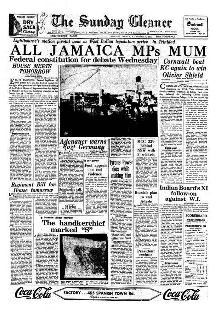 The Sunday Gleaner - Nov 16, 1958