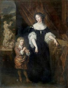 William Henry Bentinck and his mother Anne, Countess of Portland. Painting by Caspar Netcsher