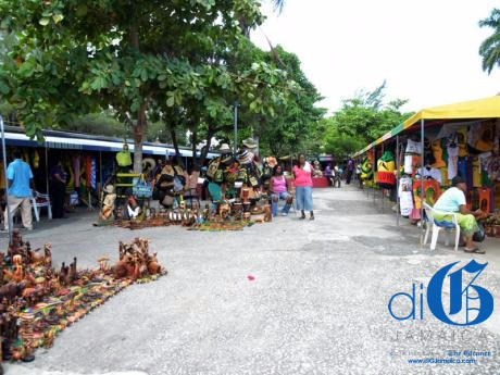 A craft market in Ocho Rios