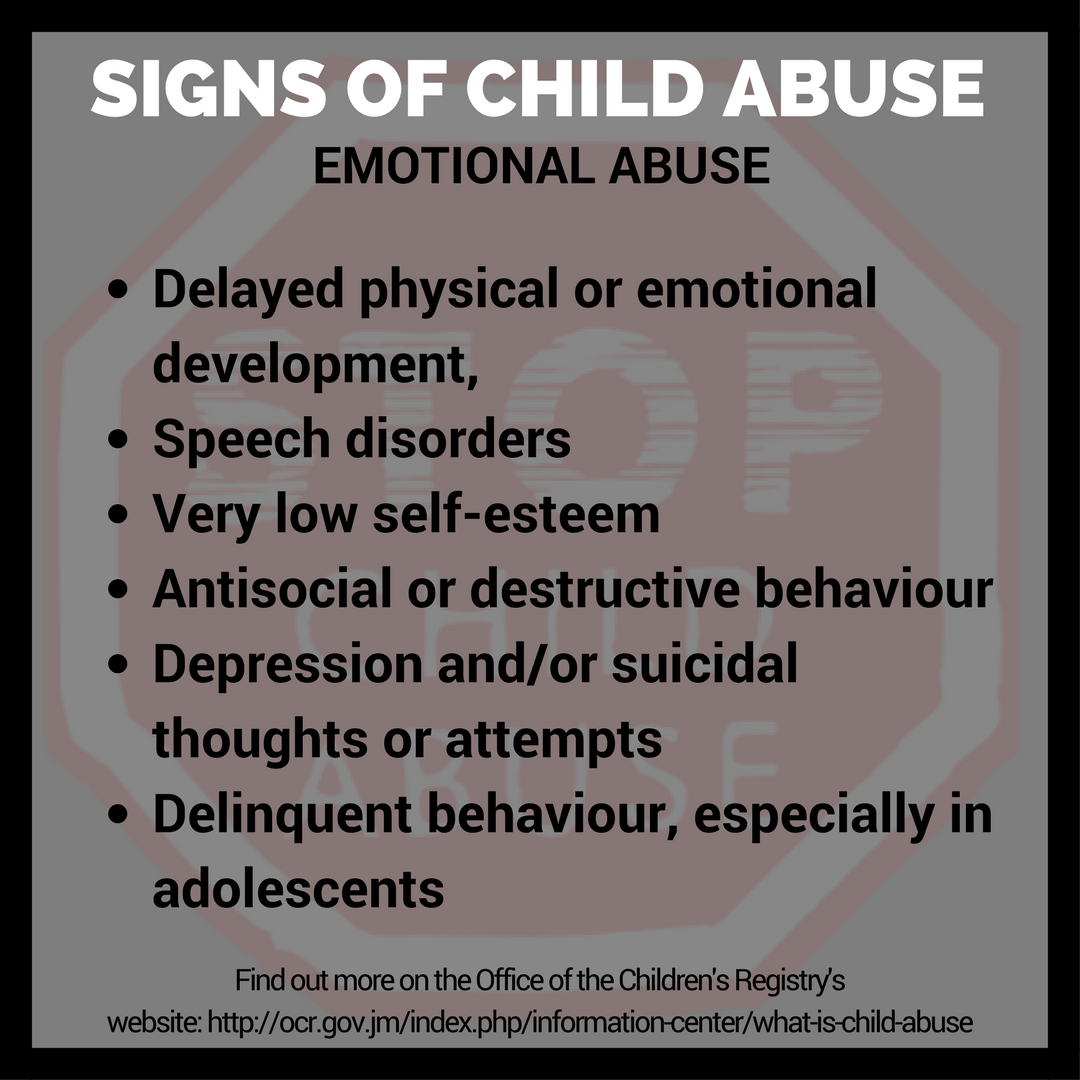 Abuse: #Infographic: Signs Of Child Abuse —diGJamaica