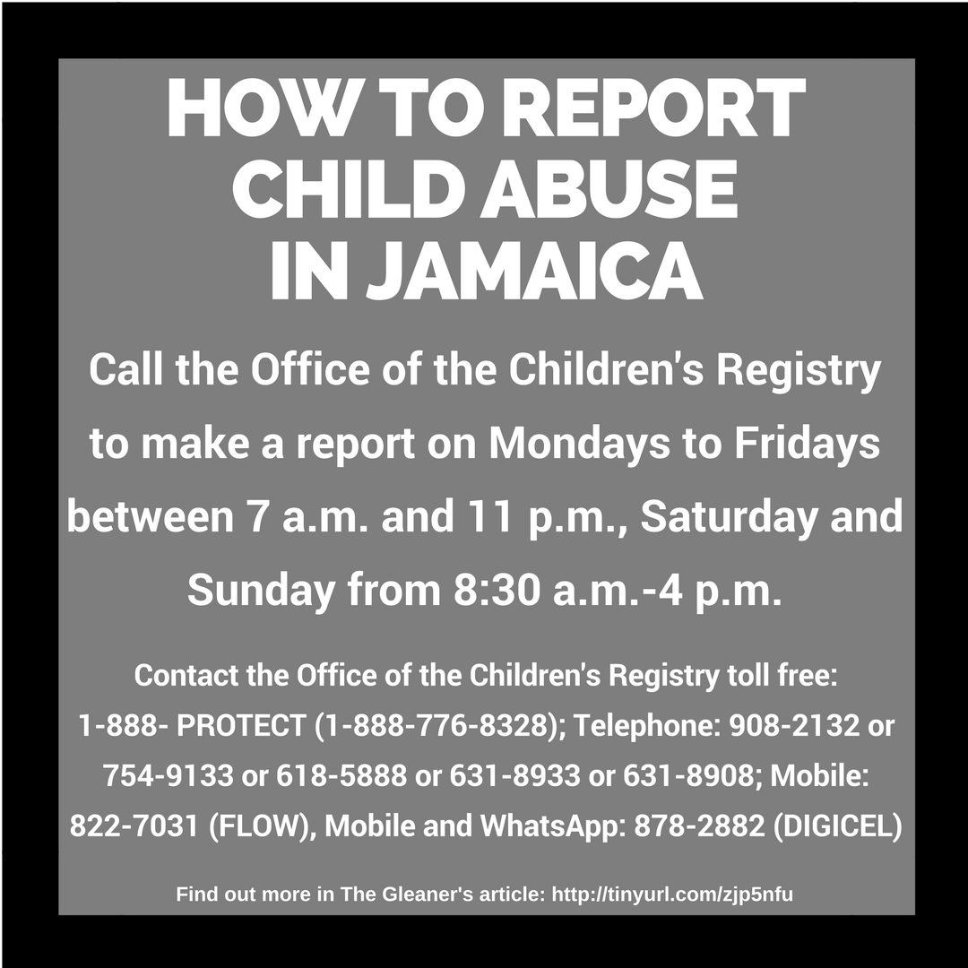 Abuse: #Infographic: How To Report Child Abuse In Jamaica —diG
